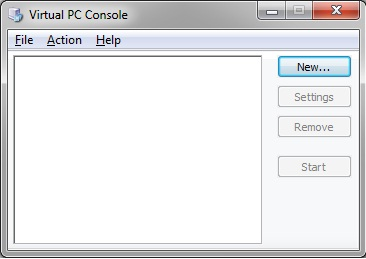 Virtual PC - Console