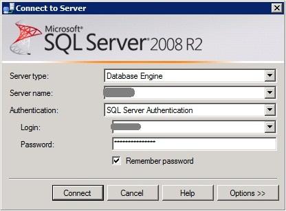 MS SQL Managment Studio - Connect to Server