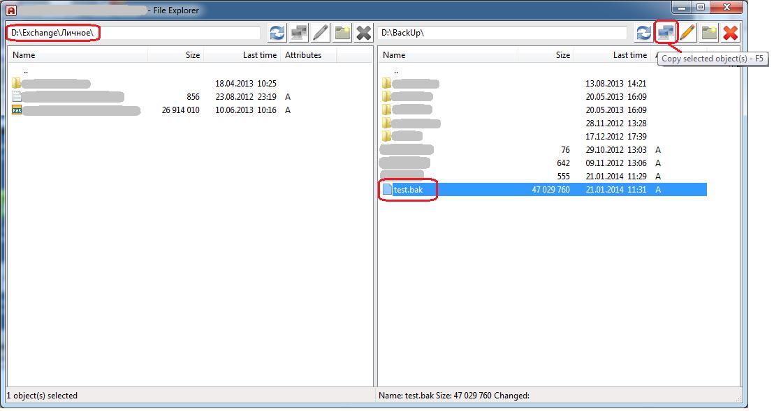 Ammy Admin - File explorer_copy file
