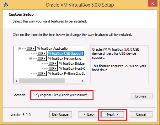 Oracle VM 5.0.0 Setup - location