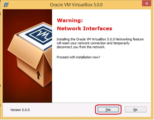 Oracle VM 5.0.0 Setup - warning! Network interfaces