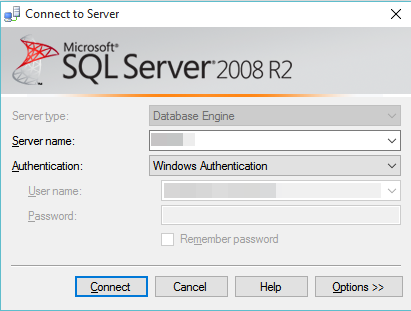 MS SQL Server - Connect to Server (2)