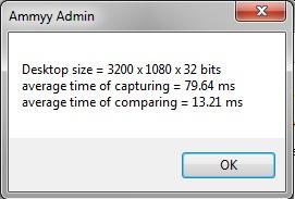 Ammy Admin - результат теста скорости видео системы
