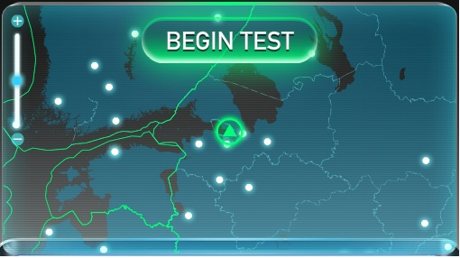 Speedtest - begin test