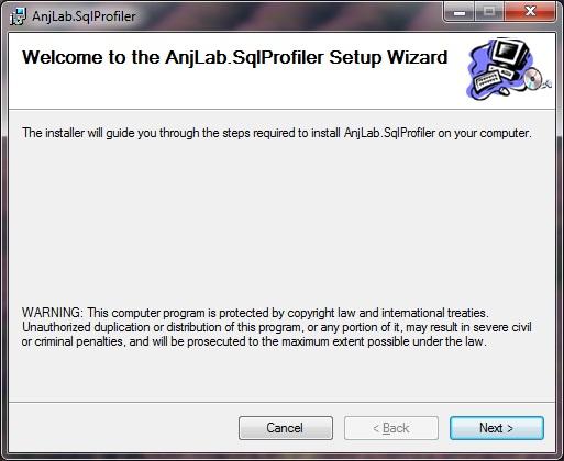 Sql profiler - установка_окно приветствия