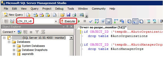 MS SQL Server - Execute script