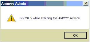 Ammy Admin - ERROR 5