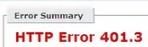 HTTP Error 401.3