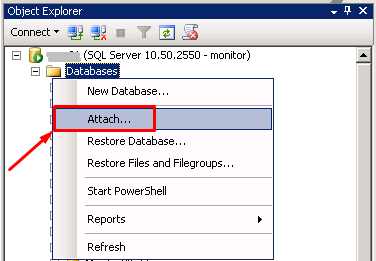 MS SQL Server - Attach2