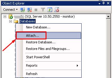 MS SQL Server - Attach2