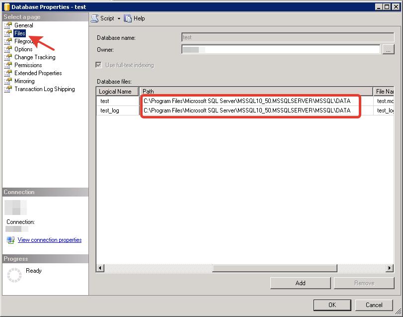 MS SQL Server - Database Properties