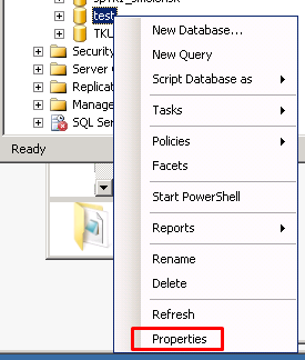 MS SQL Server - Properties